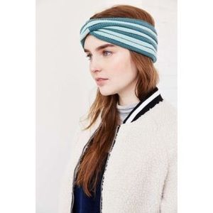 Urban Outfitters striped twisted ear warmer